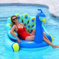 Giant Peacock Pool Float Lounger
