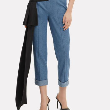 Romeo Side Drape Cigarette Pants