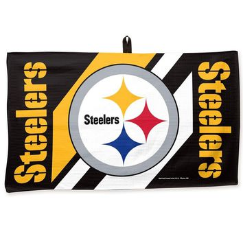"PITTSBURGH STEELERS WAFFLE GOLF TOWEL 14""X24"" BRAND NEW  SHIPPING WINCRAFT"