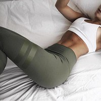Green High Waist Leggings
