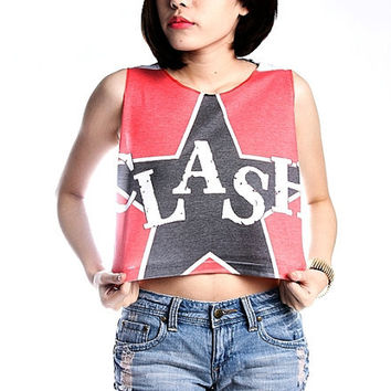The Clash Shirt Crop Top Tank Top Women T-Shirt Size S M L