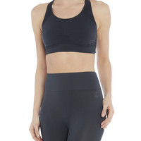 Seamless Compression Bralet, Slate Grey