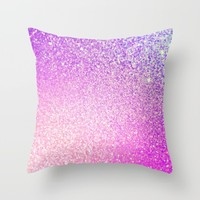 Glitter Shiny Sparkley Throw Pillow by WonderfulDreamPicture