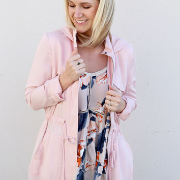Lightweight Cargo Jacket By BB Dakota {Blush}