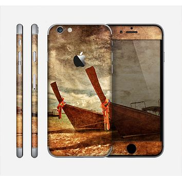 The Vintage Boats Beach Scene Skin for the Apple iPhone 6