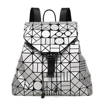 New Fashion Women Baobao Geometry Pattern Backpack Japanese Style Luxury Brand Women Bao Bao Backpack Bag 2017 Newest Stylish