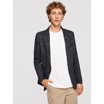 Men Single Button Blazer