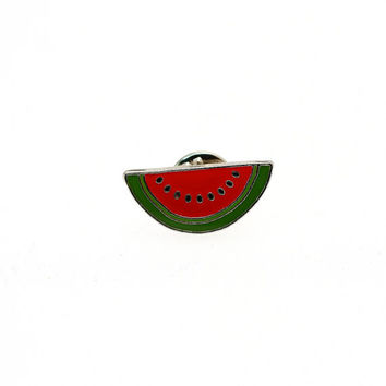 Watermelon Enamel Pin // Metal Fruit lapel pin//EP002