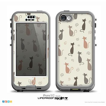 The Vintage Solid Cat Shadows Skin for the iPhone 5c nüüd LifeProof Case