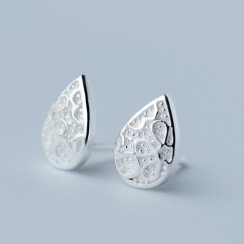 Retro drop shape 925 sterling silver earrings, a perfect gift
