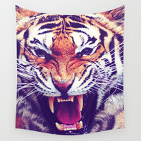 Tiger Wall Tapestry by Emily Lanier