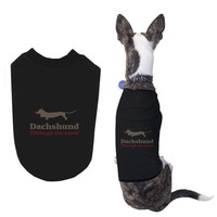 Dachshund through the Snow Funny Holiday Pet T-shirt Cute Christmas Dog Tee