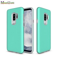 MAKEULIKE Armor Case For Samsung Galaxy S9 Plus Cover Rugged Hard PC+TPU Anti-knock Phone Back Case For Samsung Galaxy S9 S9Plus