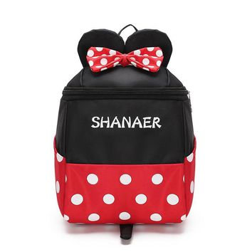 Baby Cartoon Minnie Mickey School Bags For Girls Kindergarten Preschool Backpacks Boys Bags Kids Satchel Toddler Snacks Bag