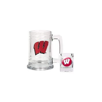 University of Wisconsin Shot Glass and Mug Set - Etching Personalized Gift Item