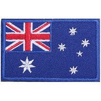 Australia AU Flag Embroidered Patch Velcro For Sport Outdoor Army Baseball Hats