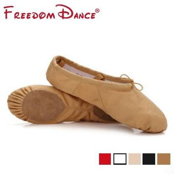 Women Professional Ballet Flat Dance Shoes Slippers Canvas Soft Gym Dancing Shoes Girls Fitness Shoes Dance Sneakers 5Colors