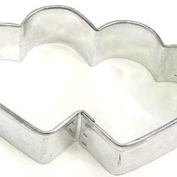 "3.5"" Double Heart Cookie Cutter Valentine's Day Wedding"
