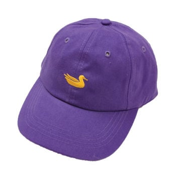 Hat in Purple with Gold Duck by Southern Marsh
