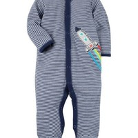 Snap-Up Rocket Cotton Sleep & Play