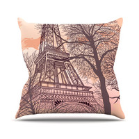 "Sam Posnick ""Eiffel Tower"" Throw Pillow"