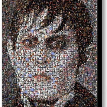 Dark Shadows Barnabas Collins Johnny Depp memorabilia Mosaic Framed 9 X 11 Print