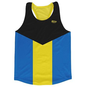 Bahamas Country Flag Running Tank Top Racerback Track and Cross Country Singlet Jersey