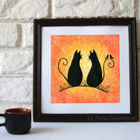 The Cats In Love Art Print