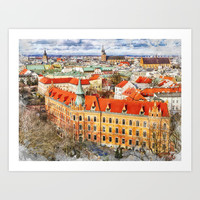 Cracow art 14 #cracow #krakow #city Art Print by jbjart