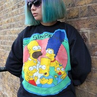 Simpsons Applique Black Sweatshirt - Medium from Philip Normal