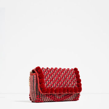 POMPOM CROSS BODY BAG