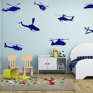 kik714 Wall Decal Sticker Room Decor Wall Art Mural helicopter air transport US Army children's room