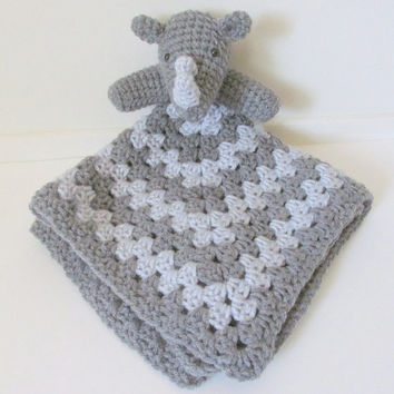 Rhino Lovey PDF Crochet Pattern - INSTANT DOWNLOAD
