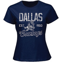 Womens Dallas Cowboys Rumbler Retro T-Shirt