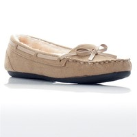 Faux Fur Softsole Moccasin - Beige