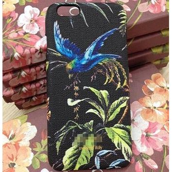 GUCCI Fashion insect Bird Print iPhone Phone Cover Case For iphone 6 6s 6plus 6s-plus 7 7plus 8 8plus