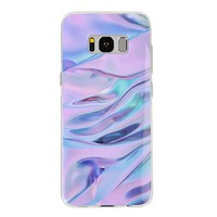 Purple Waves Samsung Case