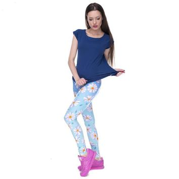 Blue Daisy Leggings