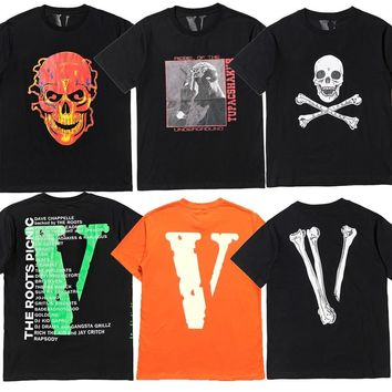 Vlone 2PAC Tee Men Women T Shirt Rapper Clothes Vlone Friends Shirt Halloween Dress Kanye T-Shirt Hippie Hip Hop Cotton Tshirts