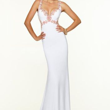 Mori Lee Jersey Fitted Dress 97013