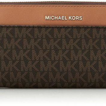 DCK4S2 MICHAEL Michael Kors Mercer Pocket Zip-Around Continental Wallet