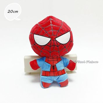 DC Comics Spiderman 20cm Plush Toys Anime Soft Stuffed Dolls Children Christmas Gift