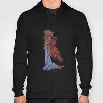 Orange Leaves Hoody by Dim_kad
