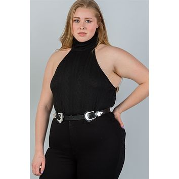 Plus size turtleneck bodysuit
