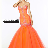Sweetheart Ruched Tulle Mermaid Paparazzi Prom Dress By Mori Lee 97084