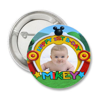 30 Mickey Mouse Clubhouse Birthday Pin-Back Buttons 3.5 inch round