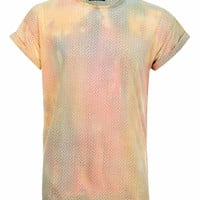 Multi Burnout Tie Dye T-shirt - New In - TOPMAN USA