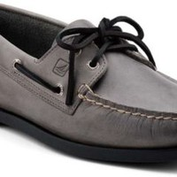 Sperry Top-Sider Authentic Original 2-Eye Boat Shoe GrayLeather, Size 9M  Men's Shoes