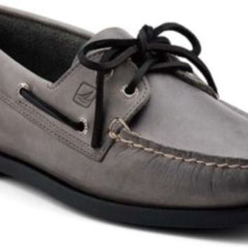 Sperry Top-Sider Authentic Original 2-Eye Boat Shoe GrayLeather, Size 11.5M  Men's Shoes