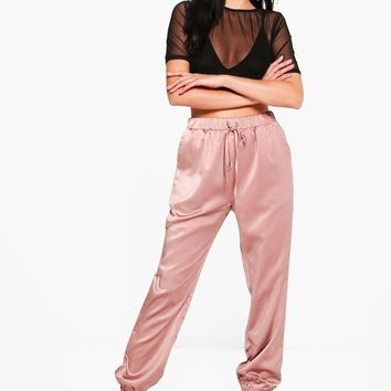Willow Luxe Satin Joggers | Boohoo